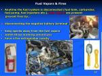 fuel vapors fires