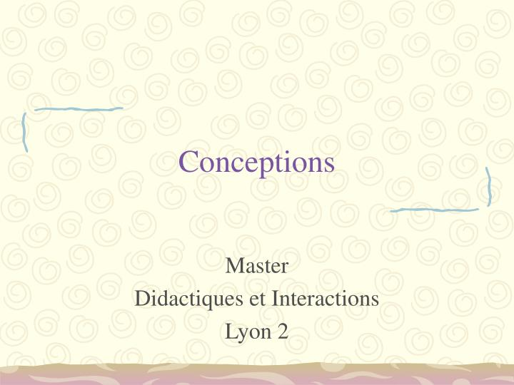 conceptions n.
