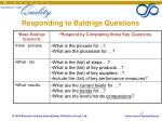responding to baldrige questions