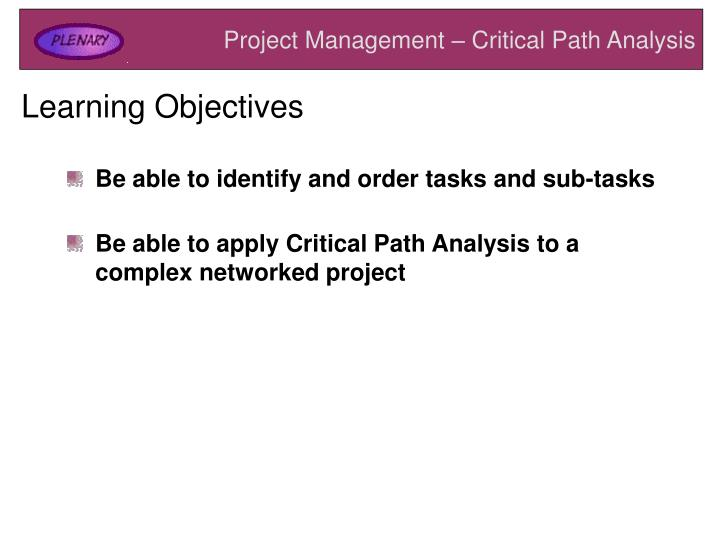 PPT Project Management Critical Path Analysis PowerPoint