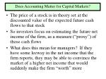 does accounting matter for capital markets
