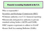 financial accounting standards in the u s