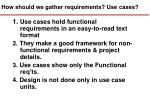 how should we gather requirements use cases