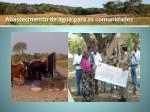 abastecimento de agua para as comunidades