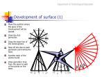 development of surface 1