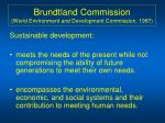 brundtland commission world environment and development commission 1987