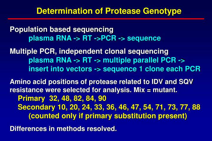 Determination of Protease Genotype