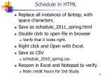 schedule in html1