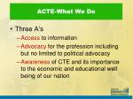 acte what we do