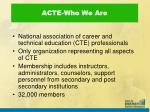 acte who we are