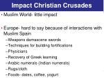 impact christian crusades