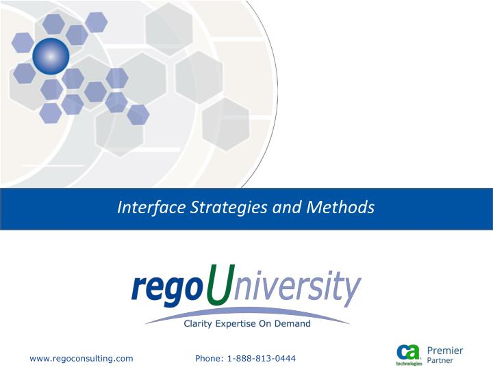 interface strategies and methods n.