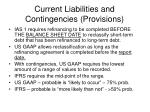 current liabilities and contingencies provisions