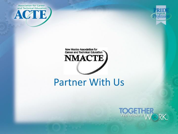 partner with us n.