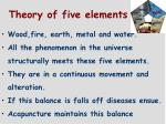theory of five elements