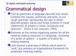 grammatical design