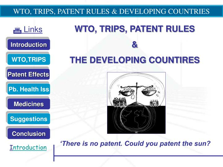 wto trips patent rules developing countries n.