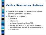 centre ressources autisme