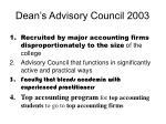 dean s advisory council 20031
