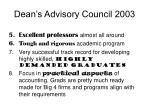 dean s advisory council 20032
