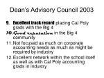 dean s advisory council 20033