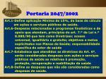 portaria 2047 2002
