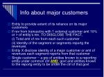 info about major customers