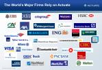 the world s major firms rely on actuate