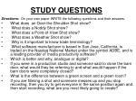 study questions1