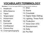 vocabulary terminology