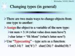 changing types in general