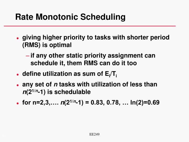 Rate Monotonic Scheduling