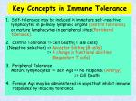 key concepts in immune tolerance