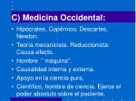 c medicina occidental