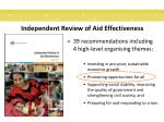 independent review of aid effectiveness3