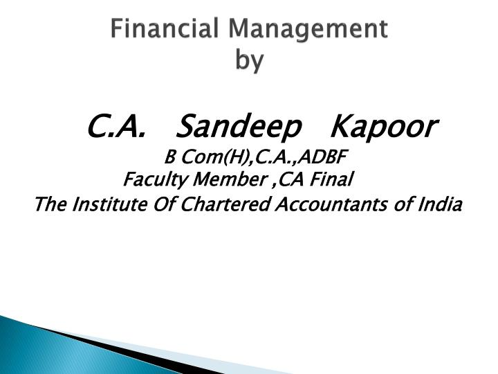 financial management by n.