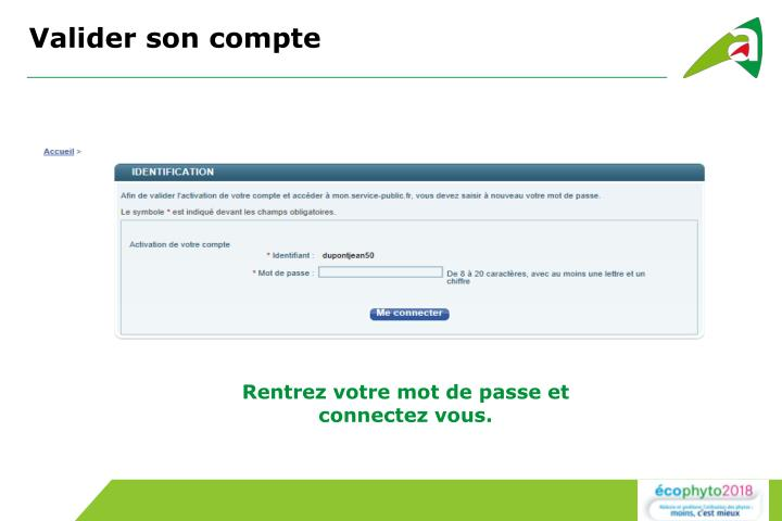 Valider son compte