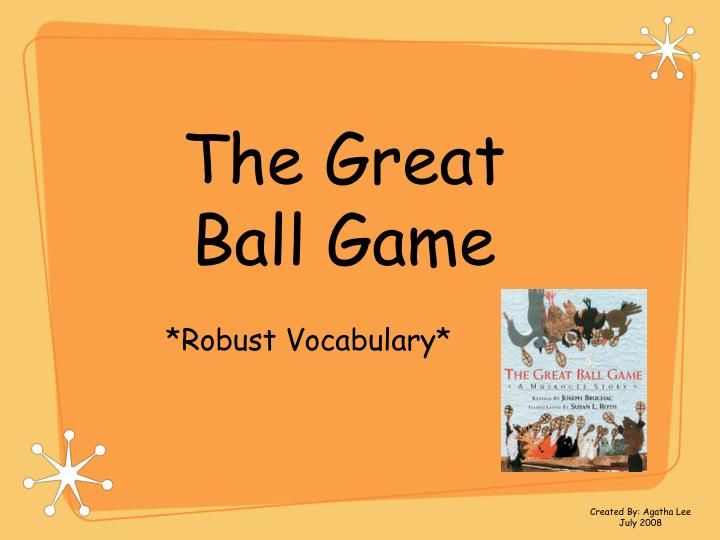 the great ball game n.