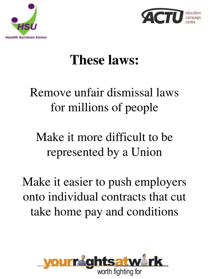 These laws: