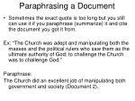 paraphrasing a document