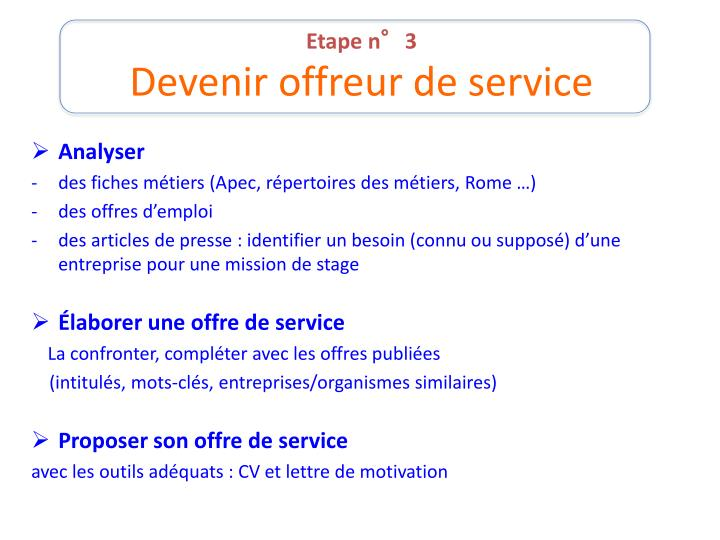 ppt - objectif stage powerpoint presentation