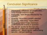 conclusion significance