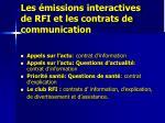 les missions interactives de rfi et les contrats de communication