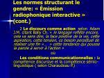 les normes structurant le gendre mission radiophonique interactive cont1