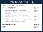how to write a dbq4