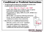 conditional or predicted instructions