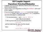 ilp compiler support dependence detection elimination