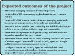 expected outcomes of the project