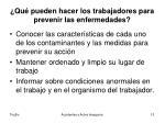 qu pueden hacer los trabajadores para prevenir las enfermedades1