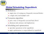global scheduling superblock